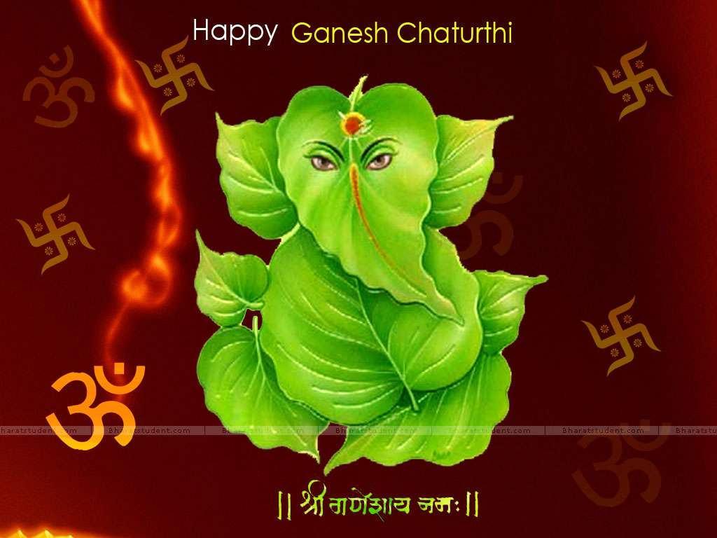 Happy Ganesh Chaturthi HD Wallpaper