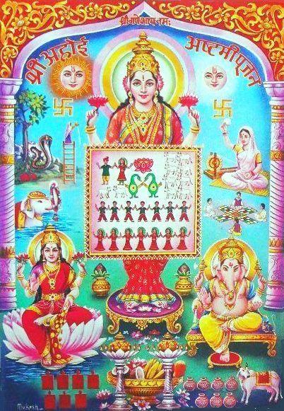 Happy Ahoi Ashtami HD Wallpaper