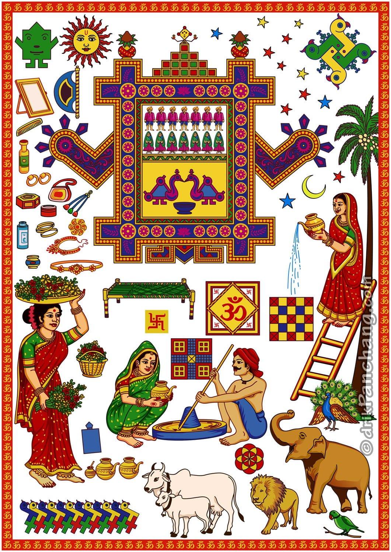 Happy Ahoi Ashtami Wallpaper