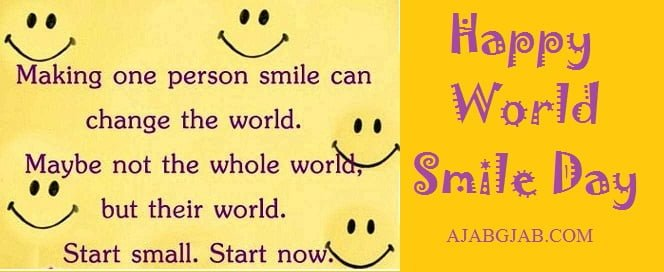 Happy World Smile Day Wallpaper