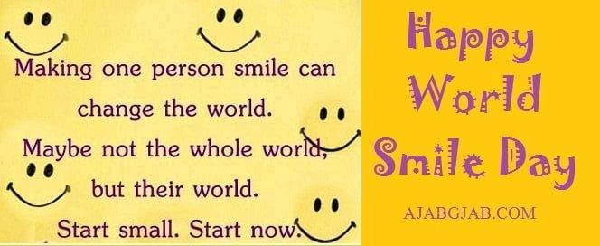Happy World Smile Day Wallpaper