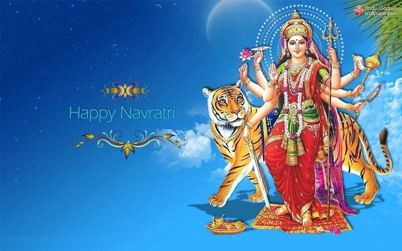 Happy Navratri 2019 Greeting Cards Free Download