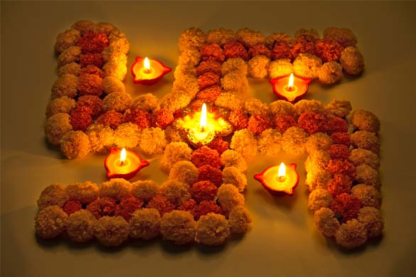 Diwali Rangoli Designs With Color