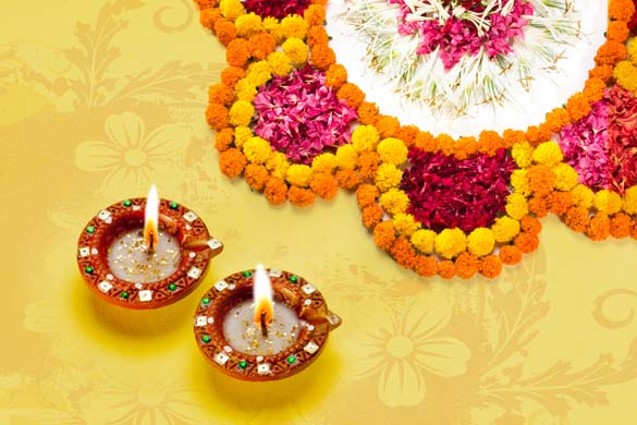 Diwali Rangoli Designs With Flower