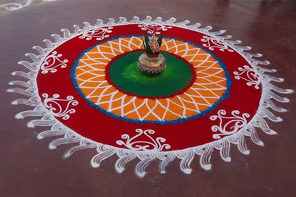 Diwali Rangoli Patterns With Color