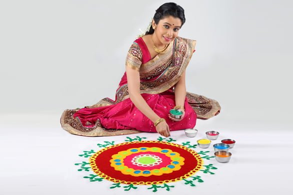 Diwali Rangoli Patterns With Color