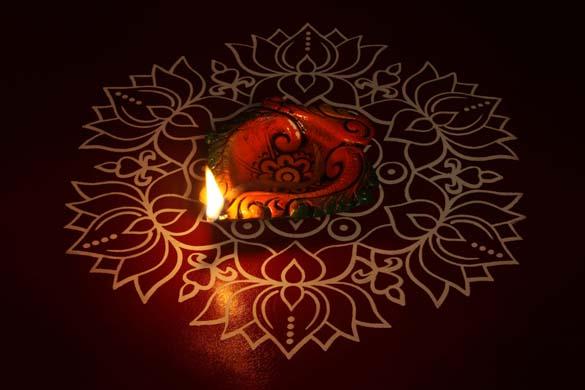 Diwali Rangoli Patterns With Flower