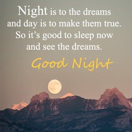 Good Night Facebook DP