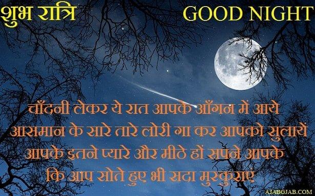 Good Night Picture Shayari In Hindi