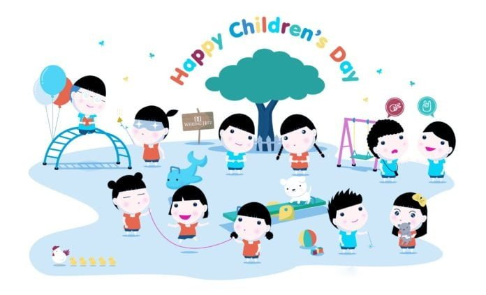 Happy Children's Day Facebook Wallpaper