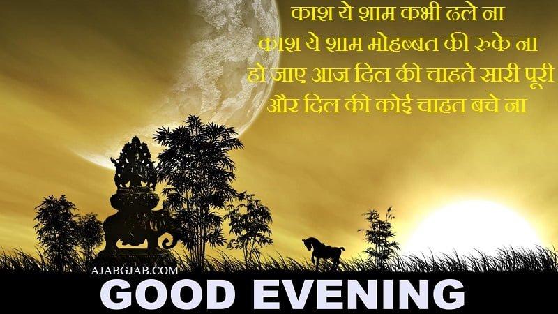 Happy Good Evening Shayari