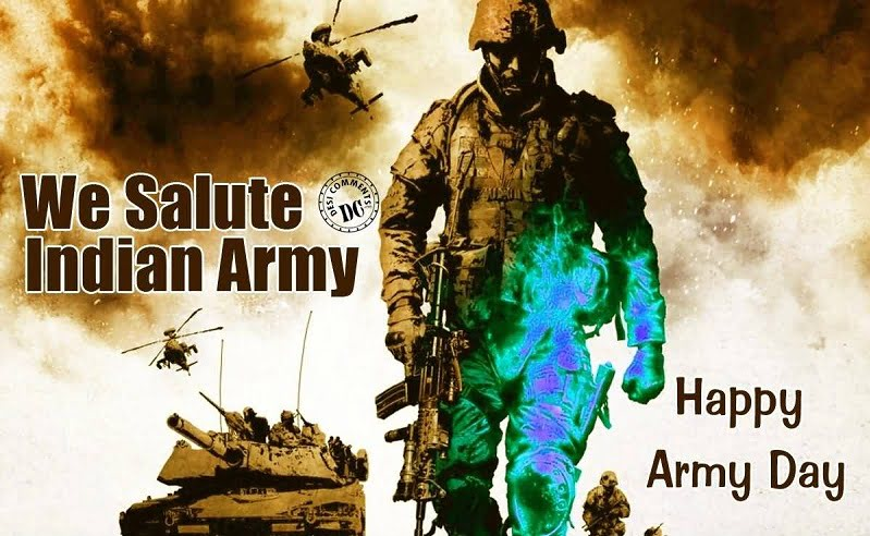 Happy Indian Army Day Hd Greeting