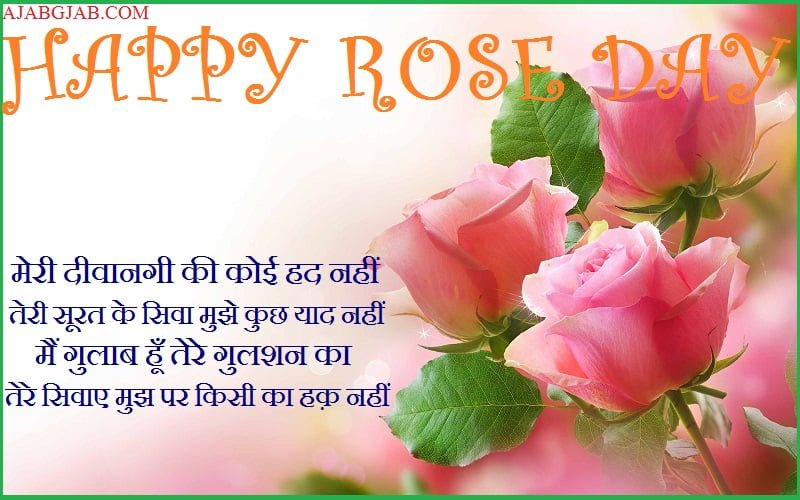 Happy Rose Day Shayari With Images
