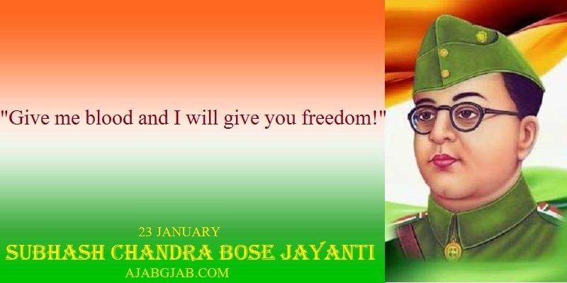 Subhash Chandra Bose Jayanti Status For Facebook