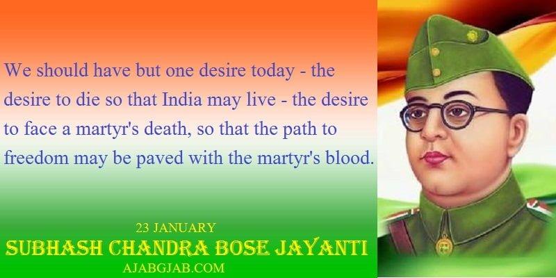Subhash Chandra Bose Jayanti Status