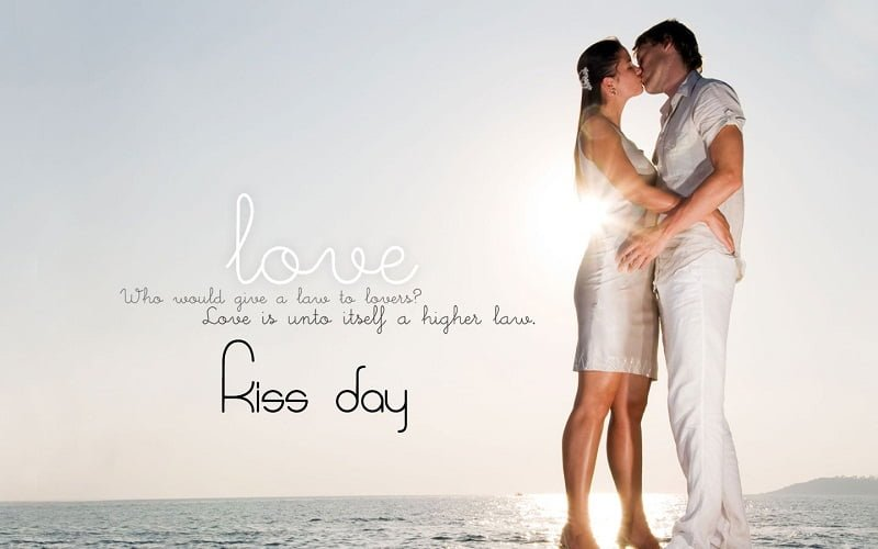 Happy Kiss Day Hd Wallpaper