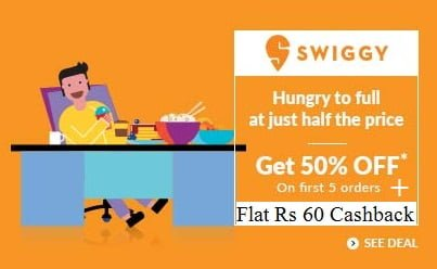 Exciting Offer On Swiggy