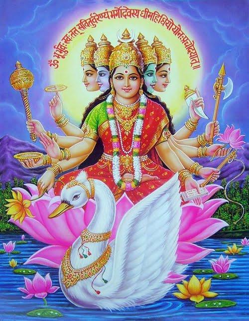 Latest Gayatri Mata Hd Wallpaper