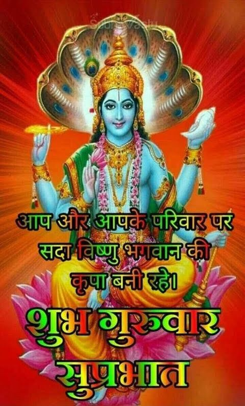 Subh Guruwar Good Morning Wallpaper