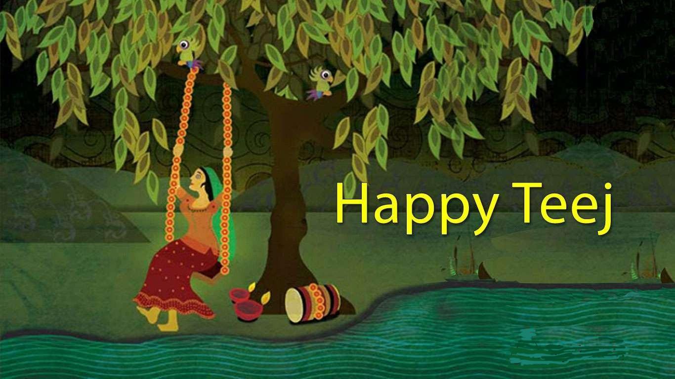 Hariyali Teej Hd Greetings