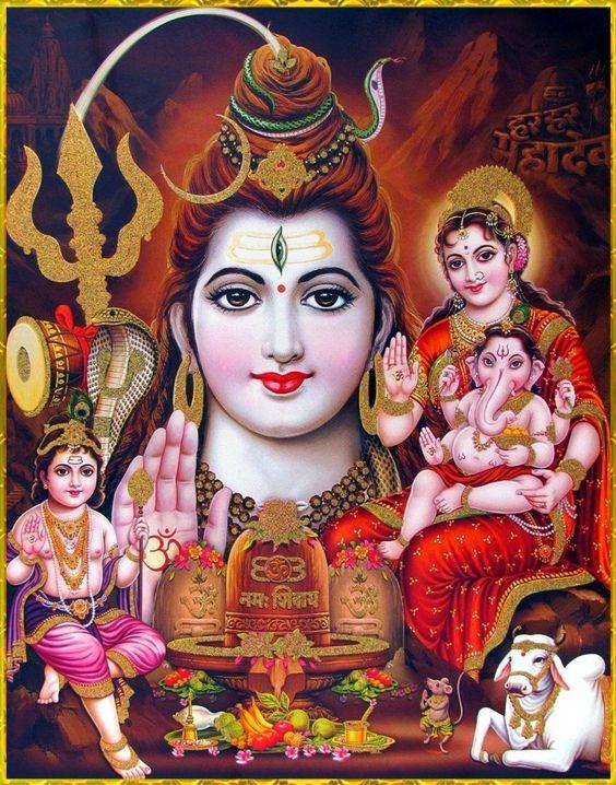 Shiv Parivar Hd Greetings For WhatsApp