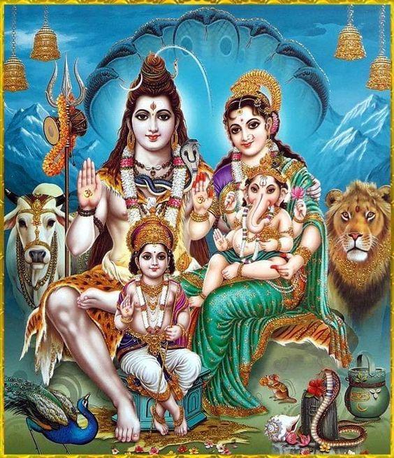 Shiv Parivar Hd Wallpaper For Mobile