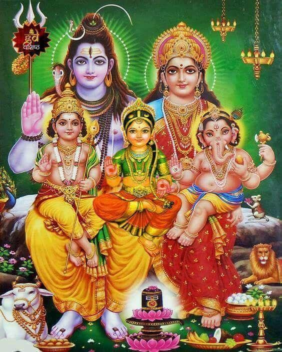 Shiv Parivar Hd Wallpaper