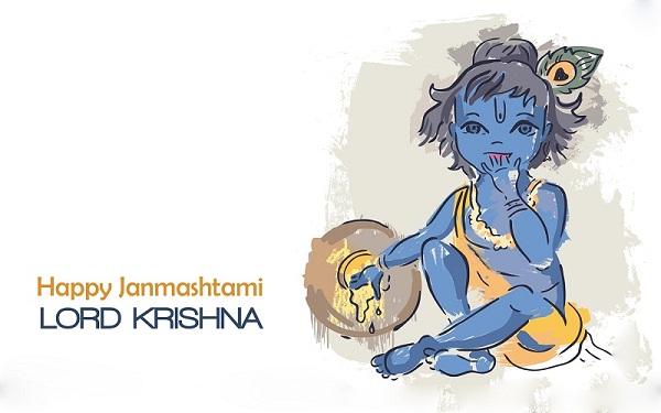Shri Krishna Janmashtmi Hd Greetings For Mobile