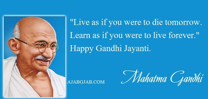Gandhi Jayanti Quotes In English