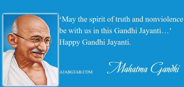 Gandhi Jayanti Status In English For WhatsApp