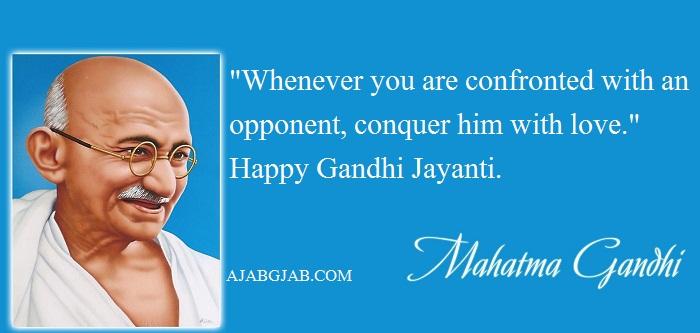 Gandhi Jayanti Status In English With Images