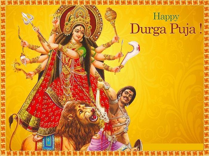 Happy Durga Puja Hd Wallpaper For Whatsapp