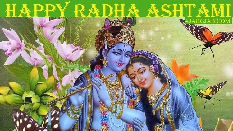 Happy Radha Ashtami Hd Cards For Facebook