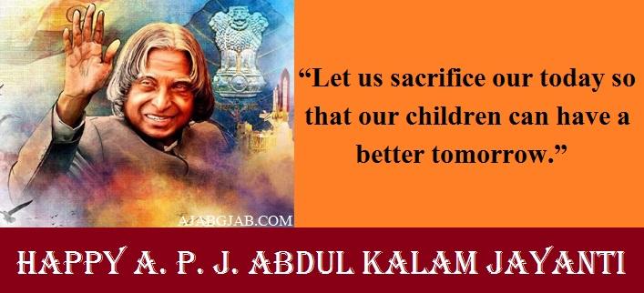 A. P. J. Abdul Kalam Jayanti Quotes 2019