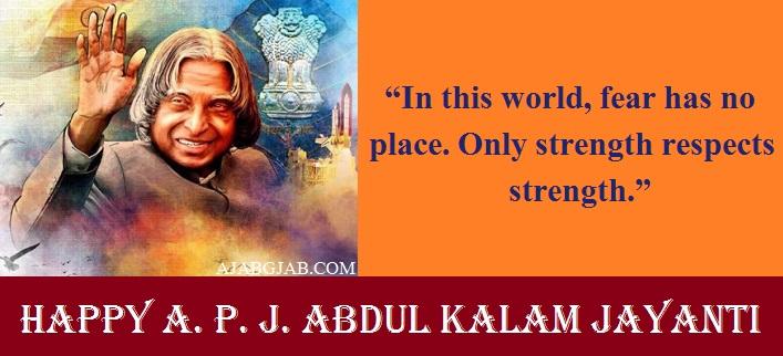 A. P. J. Abdul Kalam Jayanti Slogans In English