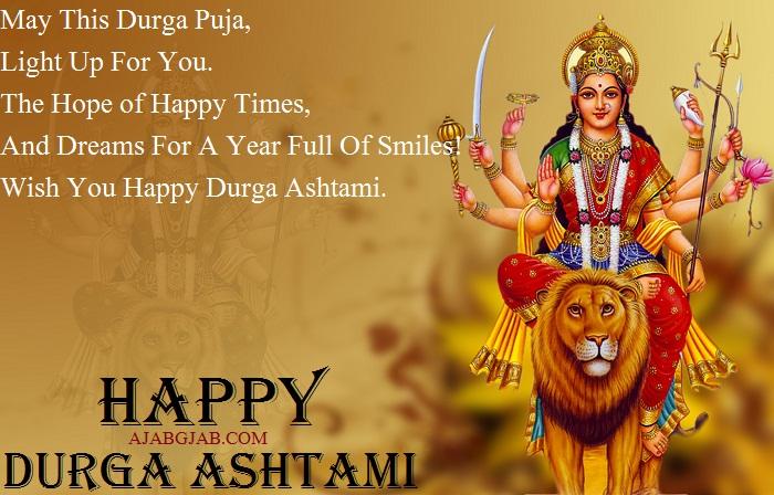 Durga Ashtami Wishes In English