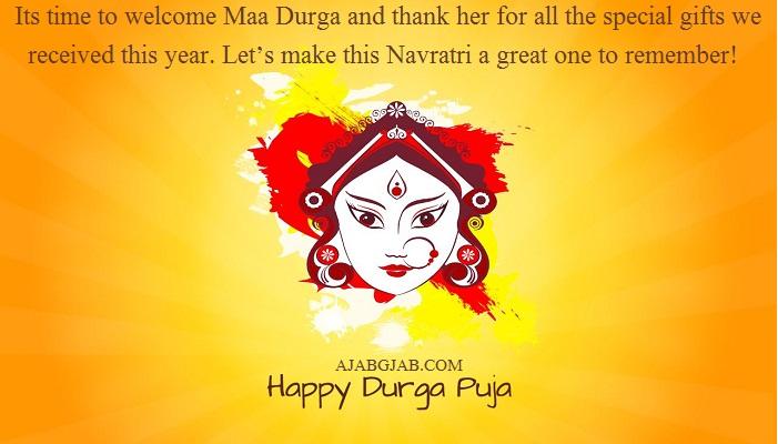 Happy Durga Puja Status In English