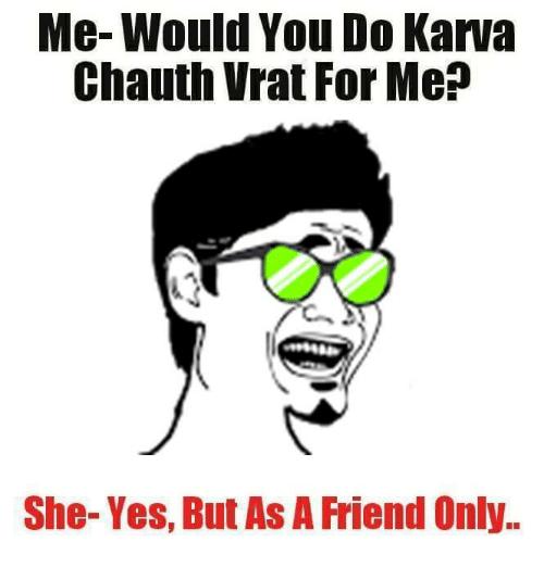 Happy Karwa Chauth Memes For Boyfriend