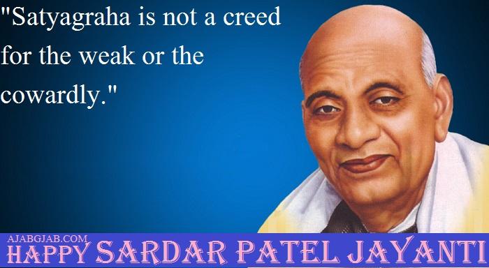 Sardar Patel Jayanti Status In English