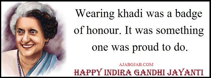 Indira Gandhi Jayanti Wishes In English