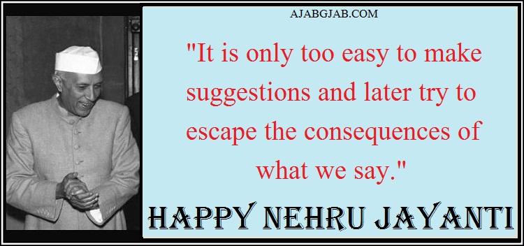 Nehru Jayanti SMS In English