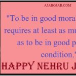Nehru Jayanti Status In English