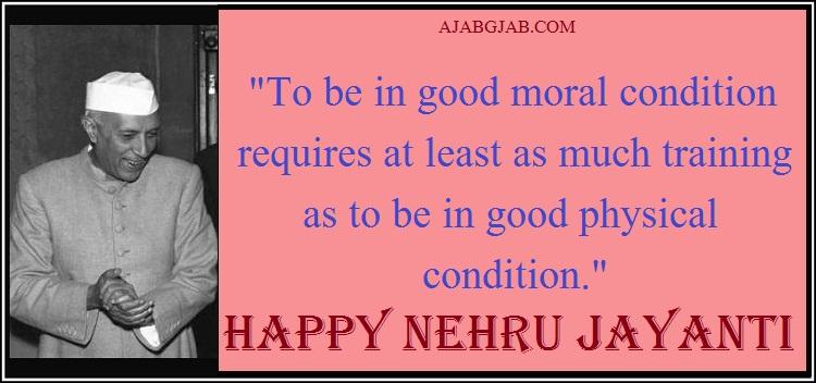 Nehru Jayanti Status In English
