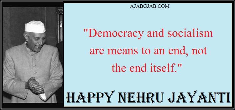 Nehru Jayanti Wishes In English