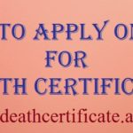 how to apply online for death certificate