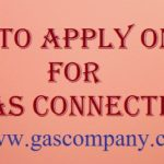 how to apply online for gas connection