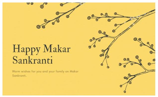 Happy Makar Sankranti 2020 Wallpaper For WhatsApp