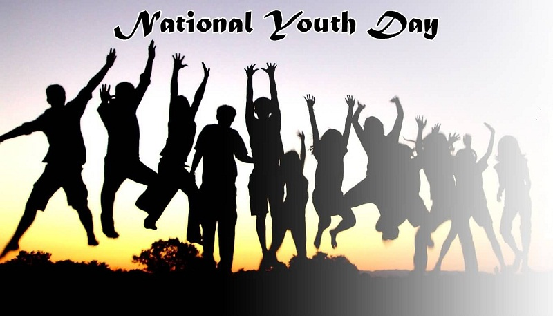 Happy National Youth Day Wallpaper