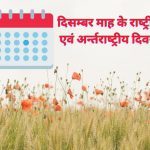 National and International Day of December Month in Hindi